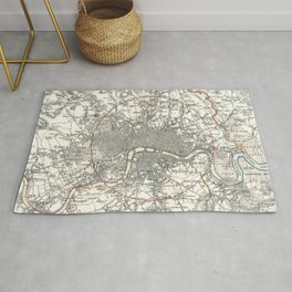 Vintage Map of London England (1832) Rug