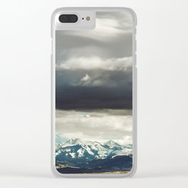 Crazy Mountain Cloud Cover Clear iPhone Case