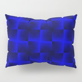Rotated rhombuses of blue crosses with shiny intersections. Pillow Sham