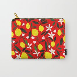 Lemons Red Carry-All Pouch
