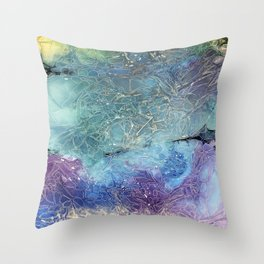 crystals in daylight Throw Pillow