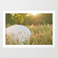 Paper Umbrella Art Print