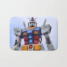 Gundam Stare Bath Mat