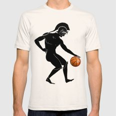 Hoplites Playing Basketball Natural X-LARGE Mens Fitted Tee
