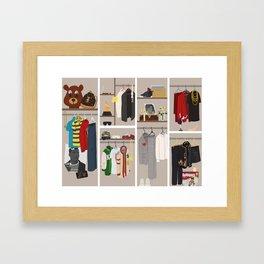 Yeezy's Closet Framed Art Print