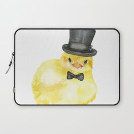 Top Hat Chick Watercolor Laptop Sleeve