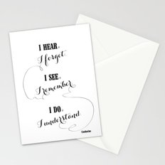 I hear and I forget Stationery Cards
