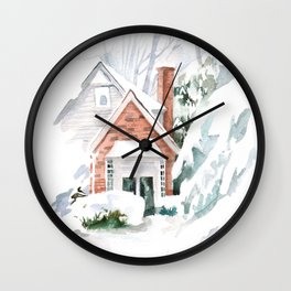 Chtistmas house  Wall Clock
