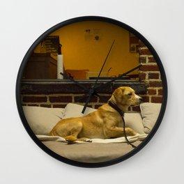 Dog Cafe Wall Clock