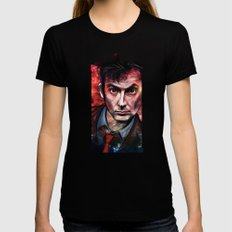 Tenth Doctor Womens Fitted Tee Black MEDIUM