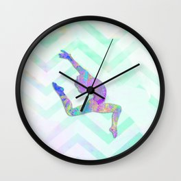 Gymnast Jump Wall Clock