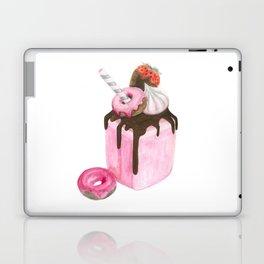 Strawberry milkshake,Pink milkshake,Donuts,Sweets art,Watercolor art,Pink art,Dessert Laptop & iPad Skin