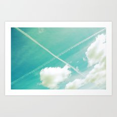 Scottish sky 2594 Art Print