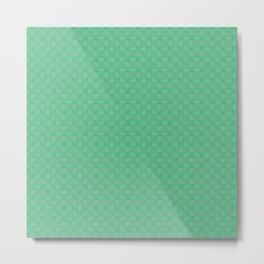 Decorative Mint Green Pattern Metal Print