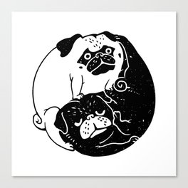 The Tao of Pug Canvas Print