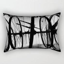 Hanging Bicycle Tires Rectangular Pillow