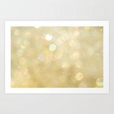 Bokeh Series - Gold Dust Art Print