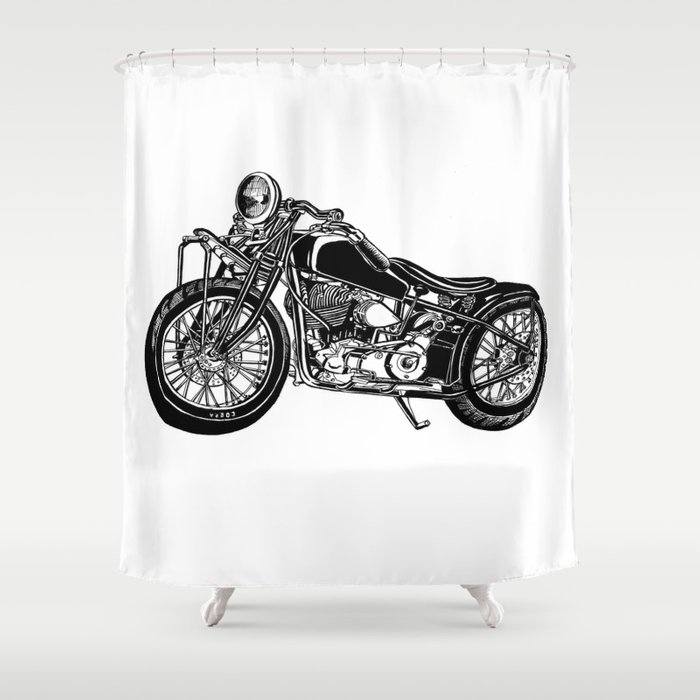 Indian Motorcycle Shower Curtain By Kingofthesouth