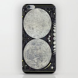The Earth's Moon Map iPhone Skin