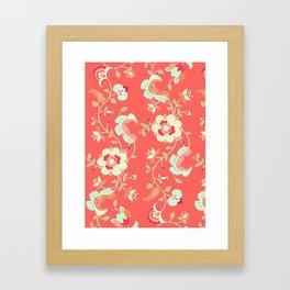coral adrienne Framed Art Print