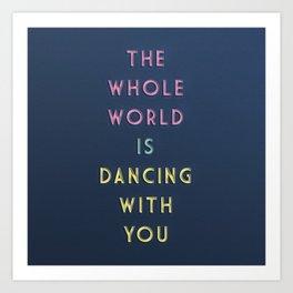 ALMOST MIDNIGHT | Dancing Art Print