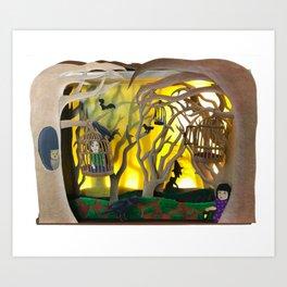 Into the Woods Paper ARt Art Print