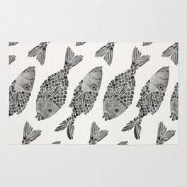 Indonesian Fish Duo – Black Palette Rug