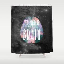 Beautiful Brain Shower Curtain