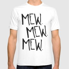 Mew. White LARGE Mens Fitted Tee