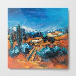 Provencal Landscape Metal Print