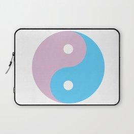 Transgender Yin Yang Symbol Laptop Sleeve