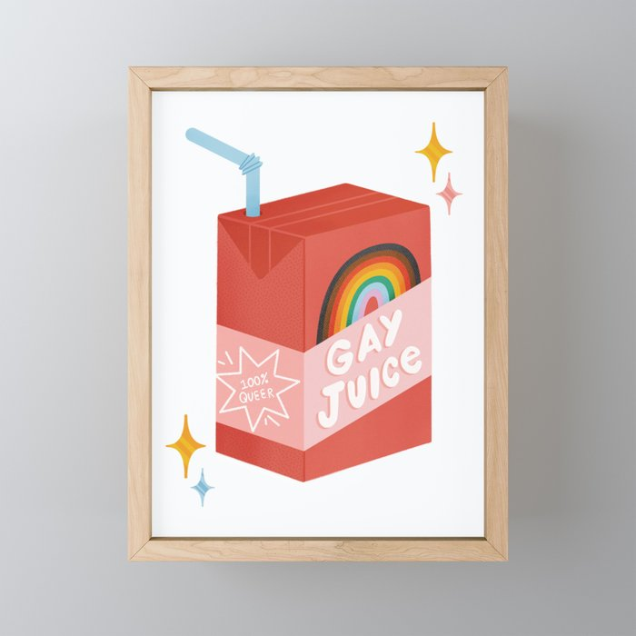 Gay Juice! inspired by The L Word Framed Mini Art Print
