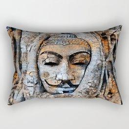 Guy Buddha sitting under the Banyan Tree Rectangular Pillow