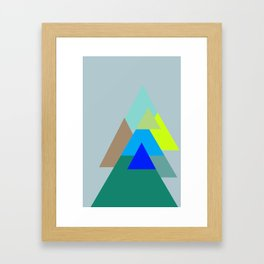 Triangles - mud color scheme  Framed Art Print