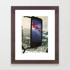 cold-space (a mixture of elements) Framed Art Print