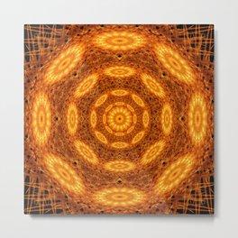 The Alchemic Eye Mandala Metal Print