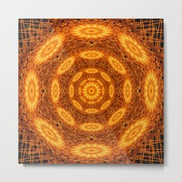 The Alchemic Eye Mandala Metal Print