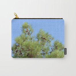 Pine cones and branches against a blue sky Carry-All Pouch