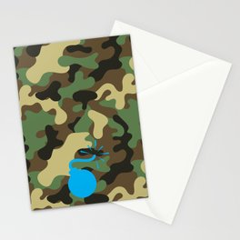 CAMO & LIGHT BLUE BOMB DIGGITY Stationery Cards