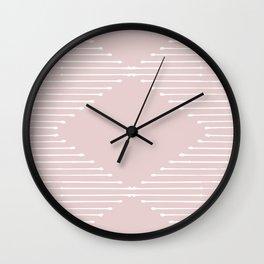 Geo (Linen Pink) Wall Clock