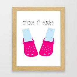 Crocs n' Socks Framed Art Print