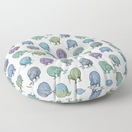 Hungry Kiwis – Cool Palette Floor Pillow