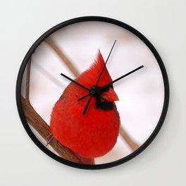 Big Red Cardinal Wall Clock