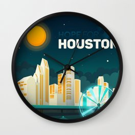 Hope For Houston Wall Clock