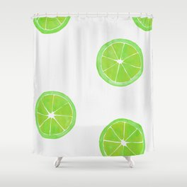 Pattern of Limes in Watercolor Shower Curtain
