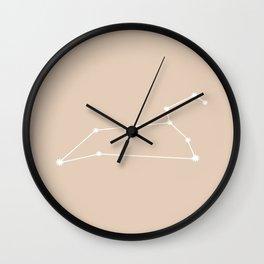Leo Zodiac Constellation - Warm Neutral Wall Clock