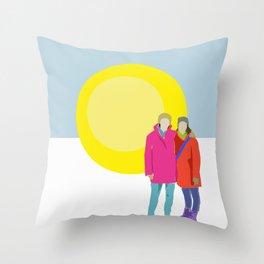 Winter Friendship Throw Pillow