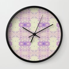 Fuzzy kaleidoscope Wall Clock