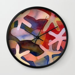 Sea Stars and Sea Shells Watercolor Art Wall Clock