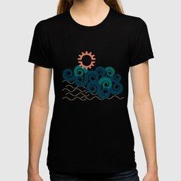 sun in a beach T-shirt